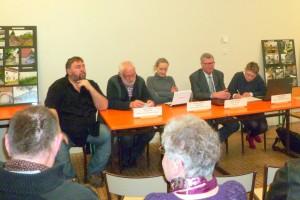 Le représentant du maire de Langley, le bureau et Jacques Grasser, maire adjoint à la culture à Epinal
